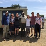 Family with Walter after 5 day Safari