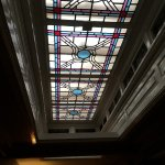 An old stained-glass skylight.