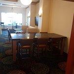 Great breakfast breakfast area new furniture very comfortable.