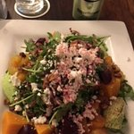 Amazing beet and goat cheese salad.