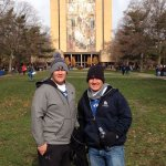 With my brother visiting Touchdown Jesus!