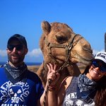 The camels are so friendly and sweet. Monica gave me a kiss