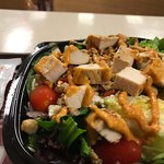 Healthy salads and convenient stop near gas stations and Walmart.
