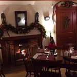 We scored a table right near the fireplace! It was a treat on a cold Winter's night!