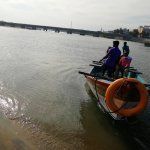 boating at Vellaiyar river near Vailankanni beach