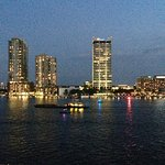 View of the Jacksonville Skyline at night & the St. Johns River