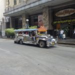 "Manila ""Jeepney"" on the street in front of the hotel"