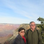 Grand Canyon South Rim with Grayline luxury bus.