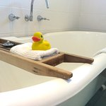 All the ensuites have cast iron clawfoot baths, bubblebath and bath ducks!