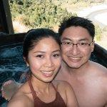 Us enjoying the Onsen Hot Pools experience