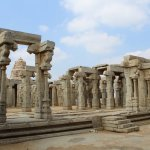 Pillars in Veerabhadra Swami Temple