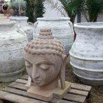 large terracotta pots, and sculpture
