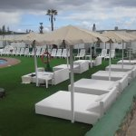 Top of the range sun beds fit for a King or a Queen at Vista Oasis Sonnenland Gran Canaria