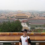 View of the Forbidden City from the top.