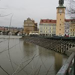 The Bedrich Smetana Statue and museum by Charles Bridge, Prague.