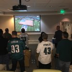We watched the super bowl in a great room provided by The Bellmoor