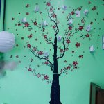 Cherry blossom Decals with cranes