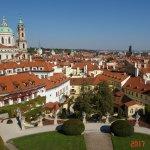 Вид с каскадов в Вртбовском саде...Прага