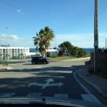 Road leading down from development - right Torrox/left Nerja