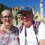 Us at Ephesus, walking distance from Boomerang