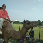 Camel ride behind the Taj Mahal