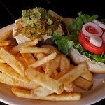 Delicious Green Chili Guac Burger...