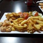 Assiette scampis calamars un vrai délice  !