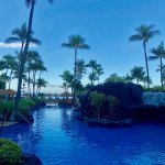 Pool in morning before guests began using it. This one is the smaller one on the Lahaina tower s