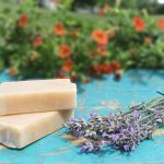All our soap is made in small batches with organic materials and double the raw goats milk!