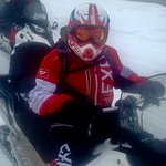 On the Ski doo ready for the trails