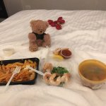 Room Service and our Hotel Edison Bear !