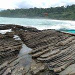 rocks at landing area