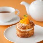 オレンジとプラリネのシュークリーム / ORANGE AND PRALINE CREAM PUFF