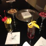 Treats for a night's turn-down service, and a couple of butler-created cocktails.