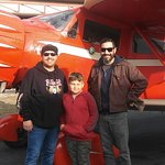 With the Captain {Dave} great guy!!!!! Beautiful crafted well running Biplane