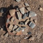 Pottery shards from P'osi Ruins