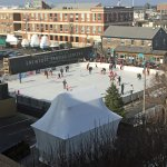 Skating rink adjacent to hotel