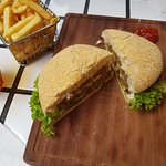 Fries and Brown burger