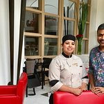 With Executive Sous Chef Bharti Chauhan