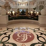 Gorgeous marble tile floor at the entry to the Grand Floridian