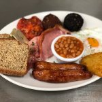 Yummy food, lots of breakfast options(served all day), delicious sandwiches and big lunches too!