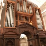 The organ in Clare College Chapel