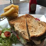 Club sandwich at the cafe part - delicious!