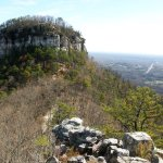 Pilot Mountain looms over US 52 between Winston-Salem and Mount Airy.