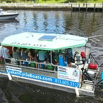 Overhead pic of the CycleBoat