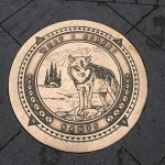 Brass plaque for Wolf Street Banff