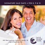 Signature Sales Thurs-Sat, Feb 8-10. Don't miss it!