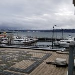 View of the harbor from our room
