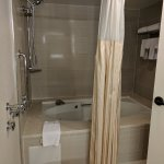 Whirlpool tub with shower. (In first room. Second room had regular shower/tub