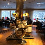 Breakfast room -- drums used as bread basket